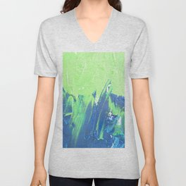 Blue & Green, No. 2 Unisex V-Neck