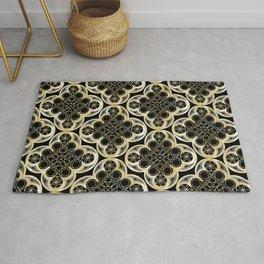 Golden Moroccan Tile Glam #1 #pattern #decor #art #society6 Rug