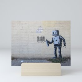 Banksy Robot (Coney Island, NYC) Mini Art Print