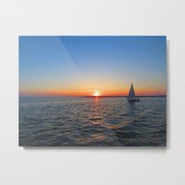 Sunset over Sandusky Bay Metal Print