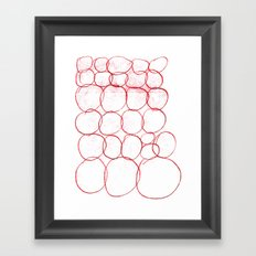 AUTOMATIC CIRCLE Framed Art Print