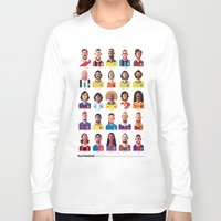 stars Long Sleeve T-shirts featuring Playmakers by Daniel Nyari