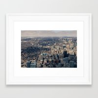 toronto Framed Art Prints featuring Toronto by Nick De Clercq