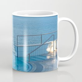Empty infinity pool and quiet bue sea Coffee Mug