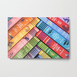 Leather Bound Classics Series - Part 2 Metal Print