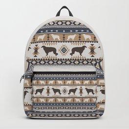 Boho dogs | Borzoi / Russian wolfhound tan Backpack
