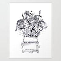Open Piano Art Print