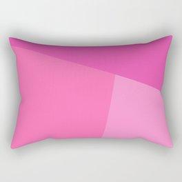dégradé trapèze rose Rectangular Pillow