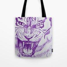 Roaring Purple Tiger Tote Bag