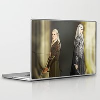 thranduil Laptop & iPad Skins featuring Legolas & Thranduil by rdjpwns