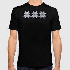 Bardarbunga Silver Black Mens Fitted Tee MEDIUM