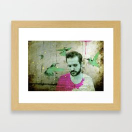 Dizzy and dazed Framed Art Print