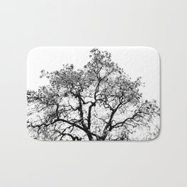 Tree - Black and White Bath Mat