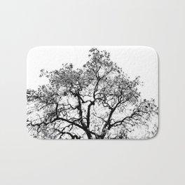 Tree - Black and White Bath Mat