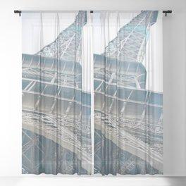 Eiffel Tower in Paris Sheer Curtain