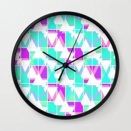 Abstract geometric pattern 4 . Wall Clock