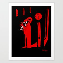 The Masque of the Red Death Art Print