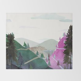 Natural Landscape Throw Blanket