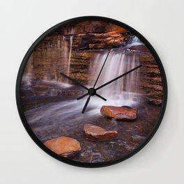 Small waterfall in the Hancock Gorge, Karijini NP, Western Australia Wall Clock