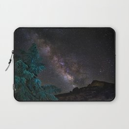 """Milky-way at the mountains"". Summer  Laptop Sleeve"