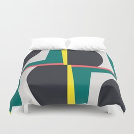 Modern Geometric 65 Green Duvet Cover