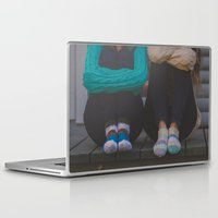 socks Laptop & iPad Skins featuring wool socks. by lissalaine