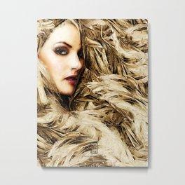 Mysterious Blonde Metal Print