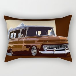 Old Chevy Ilustration Rectangular Pillow