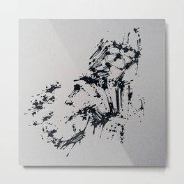 Splaaash Series - Dark Force Ink Metal Print