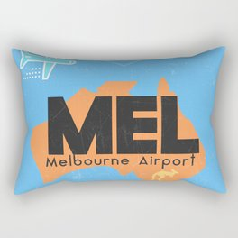 MEL Melbourne airport code Rectangular Pillow