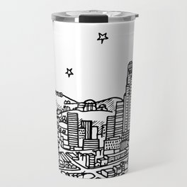 Los Angeles, California City Skyline Illustration Drawing Travel Mug