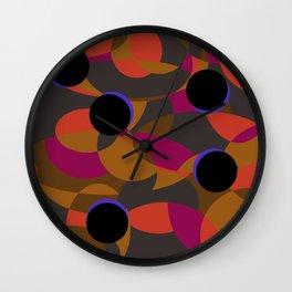 80s Classy Circle Retro Fashion Silk Shirt Wall Clock