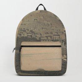 Vintage Pictorial Map of San Francisco CA (1850) Backpack