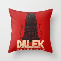 dalek Throw Pillows featuring Dalek Unchained by Moysche Designs