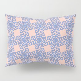 Scribbled Grid Pattern Pillow Sham