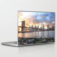 dumbo Laptop & iPad Skins featuring New York from DUMBO by RaulCano