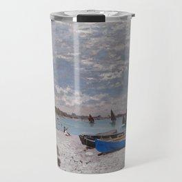 "Claude Monet ""The Beach at Sainte-Adresse"" Travel Mug"