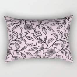 Ballet Slipper Lace Floral Rectangular Pillow