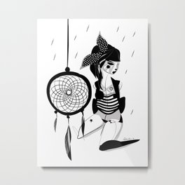 Still here - Emilie Record Metal Print