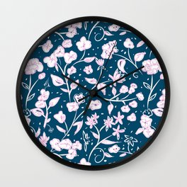 Summer is always floral Wall Clock