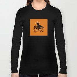 Witch on a Bicycle Long Sleeve T-shirt