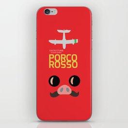 Porco Rosso - Hayao Miyazaki minimalist movie poster - Studio Ghibli, japanese animated film iPhone Skin