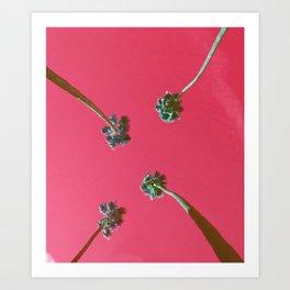 ktown palm trees 2 Art Print