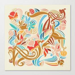 Abstract Florals Leinwanddruck