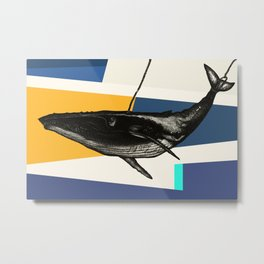 Message from the Whale {Reverse} Metal Print
