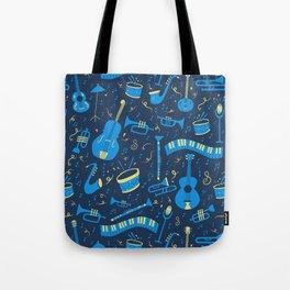 The Spirit of Jazz Pattern Tote Bag
