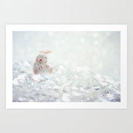 The Journeying Rabbit II Art Print