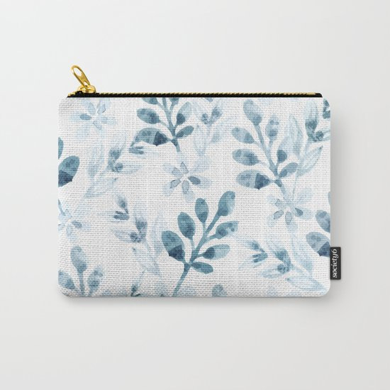 Watercolor Floral Pattern (Winter Version) Carry-All Pouch