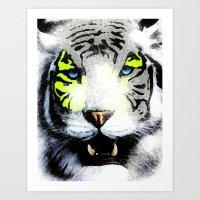 tigger Art Prints featuring Tigger by yumifuji
