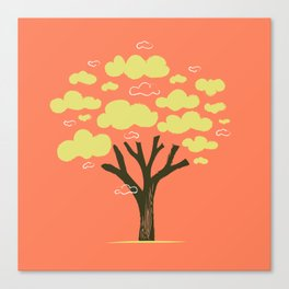 Cloudy tree Canvas Print